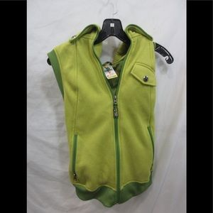 Burton Vintage Green Vest with hood